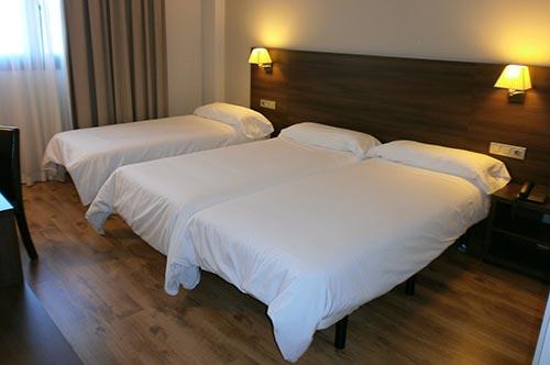 habitacion triple hotel pago del olivo